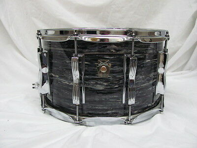 Ludwig Classic Maple Supraphonic Snare Drum Vintage Black Oyster Pearl  8x14""