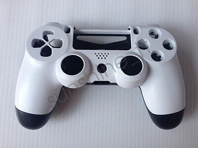 Housing Shell Parts Replacement Case Cover for Sony PS4 Controller White+Black
