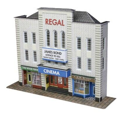 PN170 N Scale Low Relief Cinema and Two Shops Metcalfe Model Kit Building