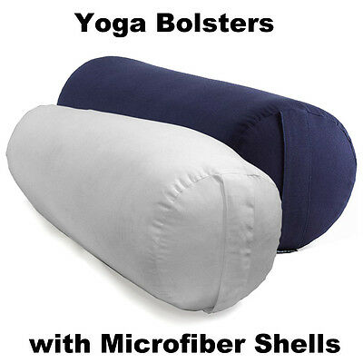 Yoga Bolster Pillow with Microfiber Shell