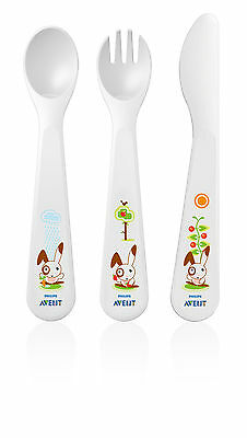 Avent Toddler Feeding Fork, Knife & Spoon Set