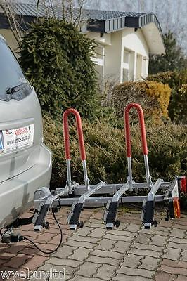 Towball bar mounted car 4x4 four bike cycle carrier to transport 4 bicycles rack
