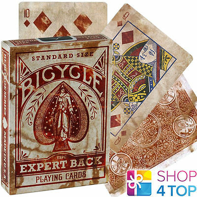Bicycle Expert Back Playing Cards Deck Magic Tricks Heritage Distressed Uspcc