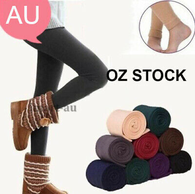 Women's Winter Thick Warm Leggings Stockings Skinny Pants Footless Slim Stretch
