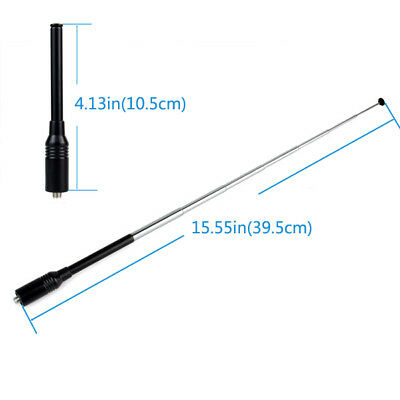 Retevis RT-773 SMF-F Dual Band Antenna Antenne per Retevis Baofeng 888s Kenwood