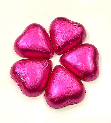 Milk Chocolate Heart Pink  - 1kg (approx 140 pieces)