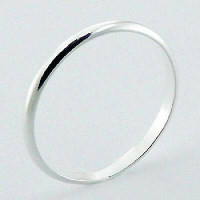 Silver ring 925 sterling 2mm wide sizes 3us to 13us men or women band ring