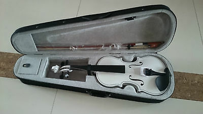 Student Acoustic Violin Size 1/4 Maple Spruce with Case Bow Rosin White Color
