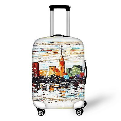 Clear Elastic Travel  Dust-proof Luggage Cover Suitcase Protective 20-30 inch