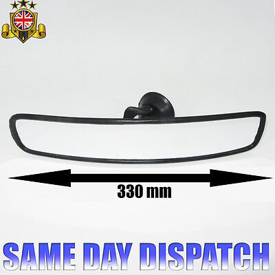 Car Wide Panoramic Interior Rear View Mirror Suction Cup 33Cm New Top Quality