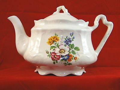 House of Goebel Staffordshire England Floral Teapot
