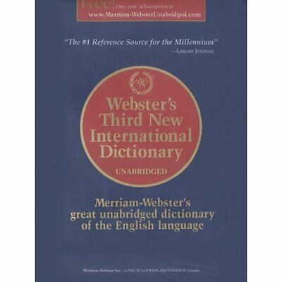 Webster's Third New International Dictionary Gove Merriam Webster. 9780877792017