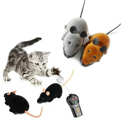 Electronic Remote Control Mice Mouse Prank Cat Play Toy Cats Kids Fun Trick