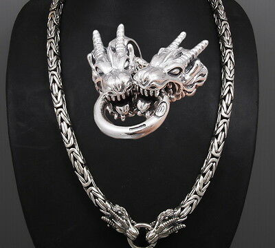 "30"" Heavy Dragon Bali Byzantine 925 Sterling Silver Mens Necklace King Chain Pre"