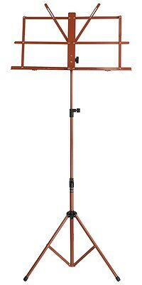 New SoundArt Steel Traditional Folding Music Stand Adjustable (Red)