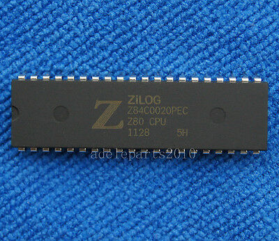 1pcs Z84C0020PEC Z84C0020  NMOS/CMOS Z80 CPU CENTRAL PROCESSING UNIT DIP-40