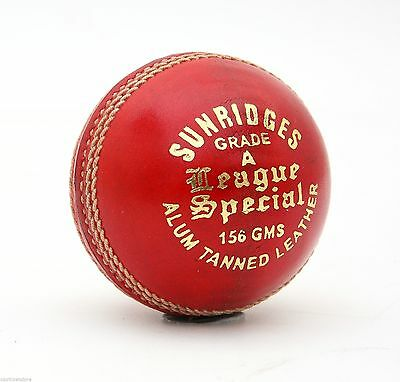 SS TON 4 Piece Special League Red LEATHER Cricket Ball 1/2/3/6/12 + AU Stock