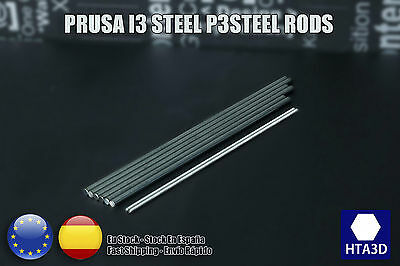 P3steel printer varillas prusa i3 Rods kit 8mm 8 dia smooth M5 Threaded inox