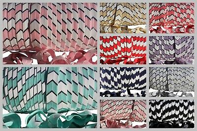 Fold Over Elastic FOE Band Print Chevron Trim DIY Craft Baby Headband Hair Ties