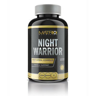 Recovery & Muscle Build Tablets - Night Warrior From Matrix Nutrition X 120 Tabs