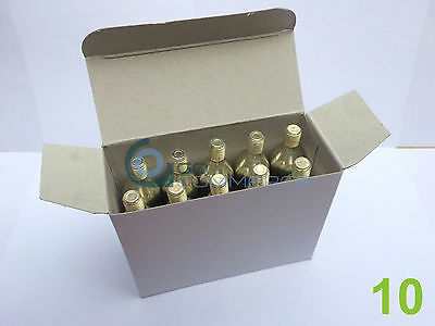 10 x 16g Threaded CO2 Gas Cartridges Canisters Capsules Bike Tyre Inflator Pump