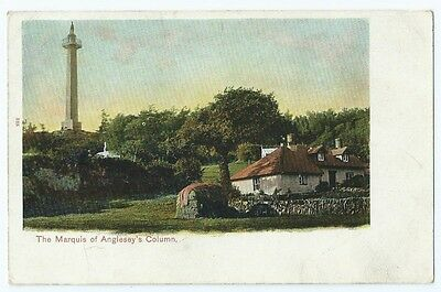 Vintage Postcard. Marquis of Anglesey's Column.Llanfairpwllgwyngyll. Ref:5681