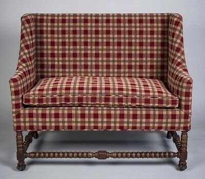 Antique Settee with Barley Twist Legs ,  Great Condition