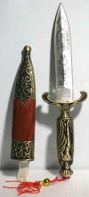 """Small Ancient Greek Roman Style Steel Brass Metal 7"""" Knife Athame Letter Opener"""