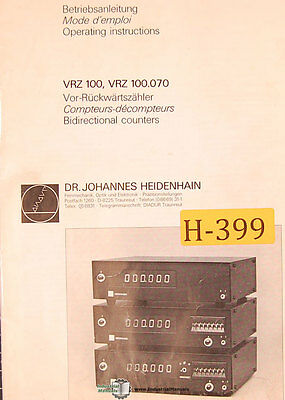 HEIDENHAIN MODEL: VRZ 143 A Counter < - $229 99 | PicClick