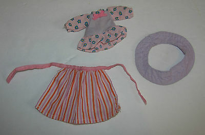 Vtg Strawberry Shortcake Berrywear Beachy Quaint Outfit - Apron, Dress