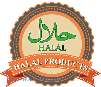 HALAL FOOD SERVED HERE shop Sign Window sticker Cafe Restaurant decal catering