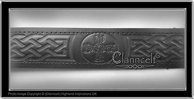 Kilt Belt - Leather 6 Designs Scottish Thistle, Celtic,trinity, Celtic Cross