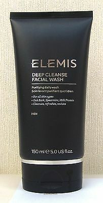 Elemis For Men Deep Cleanse Facial wash - 150ml - New - Latest Version - Sealed