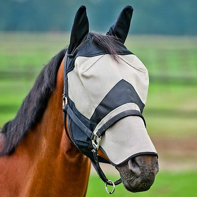 Horze Fly Mask With Ear and Nose Protection/horse, pony, Cob, all sizes
