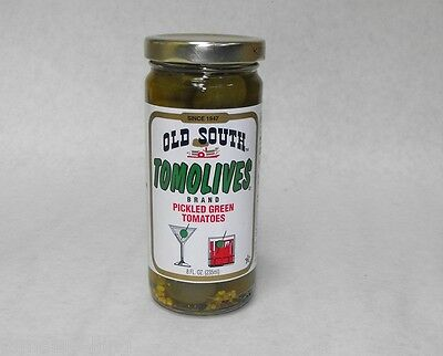 8oz. TOMOLIVES Bryant Preserving OLD SOUTH Pickled Green Tomatoes