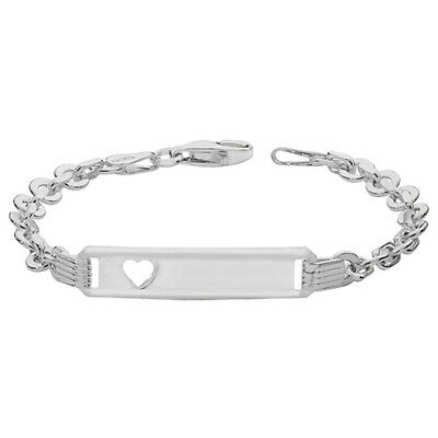 925 Sterling Silver Christening Personalised Childrens Baby ID Link Bracelet NEW