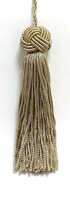 "Brass Beige 4"" Chainette Tassels Sandstone [Set of 10]"