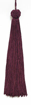 """Ruby Red 5.5"""" Chainette Tassels Rosewood Passion [Set of 10]"""