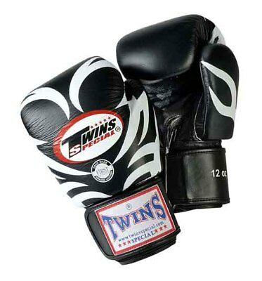 TWINS SPECIAL MUAY THAI BOXING GLOVES TATTOO PATTERN 8oz 10oz 12oz 14oz 16oz NEW