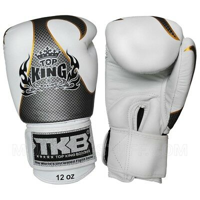 Top King EMPOWER MUAY THAI Boxing Gloves LEATHER 8OZ 10OZ 12OZ 14OZ 16OZ 18OZ