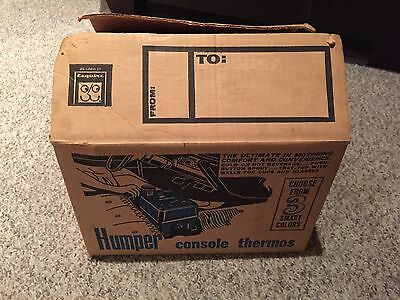 Vintage Black HUMPER Drink Car Console 60's New In Box