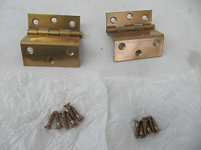 "NOS PR Lawrence Cabinet 1"" Flush Door 2 1/2"" Hinges w/Removable Pin Dull Bronze"
