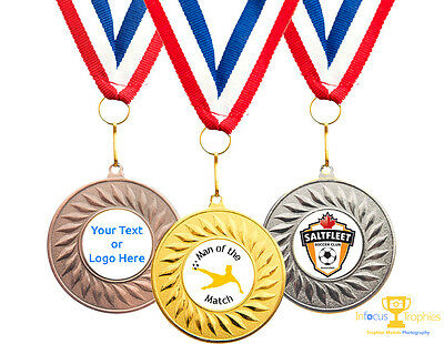Man Of The Match Medal Award For Any Sport Personalised With Your Club Logo
