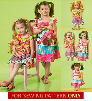 SEWING PATTERN! Make Boutique Style Girl~Doll Matching Dress! Fits ...