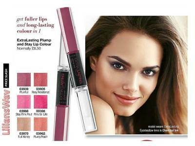 Avon Extra Lasting Plump & Stay Lip Colour~Lasts Up To 8Hrs~Various Shades~Sale