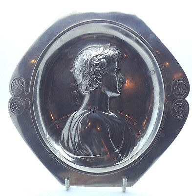 WMF Antique Wall plaque tray, Portrait of Ceasar. Art Nouveau, Jugedstil.