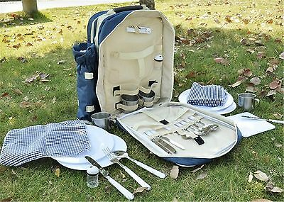 Backpack 30 PC Picnic Set for Four People Dark Blue