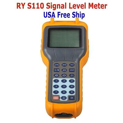 RY S110 CATV Cable TV Handle Digital Signal Level Meter DB Tester From USA