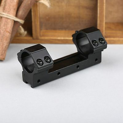 """One Piece 25.4mm 1"""" Dual Rings Low Profile Flat Scope Mount 11mm Dovetail Rail"""