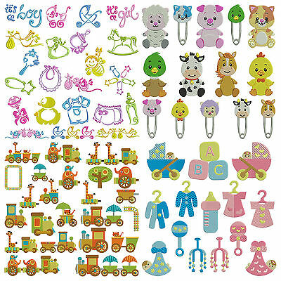 BUNDLE PACK 15 BABY * Machine Embroidery Patterns * 4 Sets 80 Designs